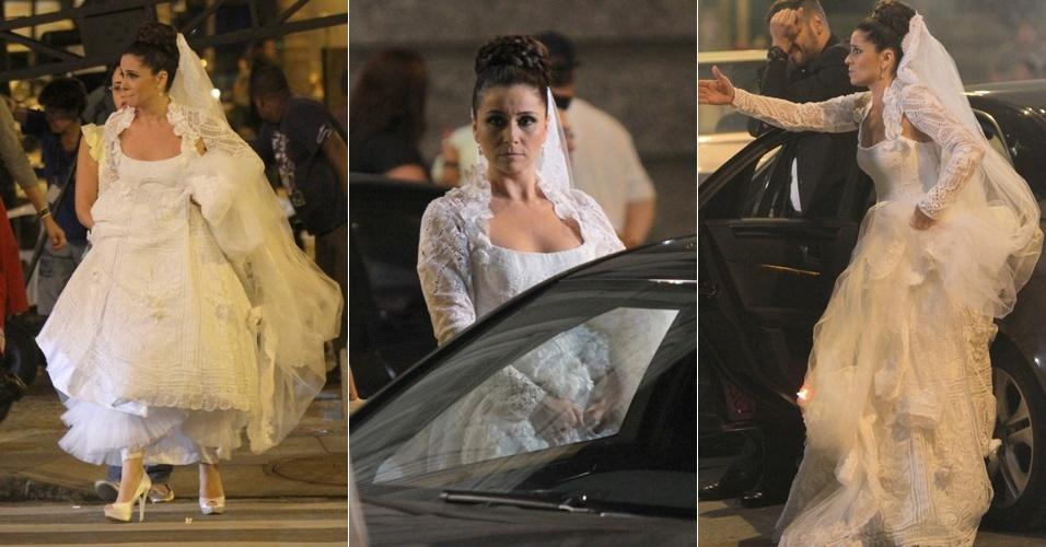 Vestida de noiva, Giovanna Antonelli grava cena da novela