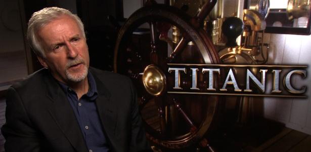 """James Cameron fala sobre """"Titanic 3D"""" (11/4/2012)"""
