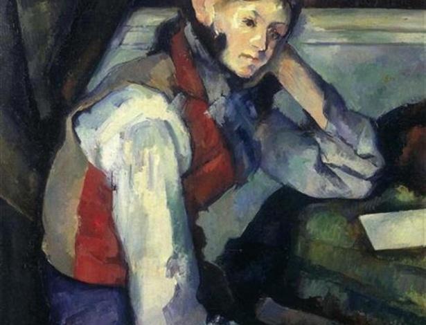"""Pintura """"O Menino de Colete Vermelho"""", de Paul Cézanne -  Ho New / Reuters"""