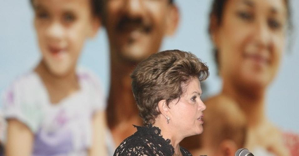 Presidente Dilma Rousseff participa da cerimônia de anuncio do resultado da selecao de proposta do Minha Casa Minha Minha Vida 2 para municipios de ate 50 mil habitantes, no Royal Tulip Hotel