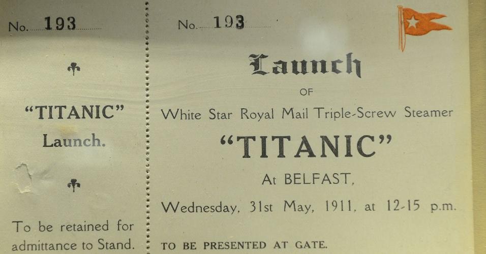 Um convite do lançamento ao mar do Titanic será leiloado neste domingo (15), em Nova York, pela Bonhams