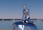 Nova estátua na Dinamarca vai piscar a cada uma hora - Reprodução