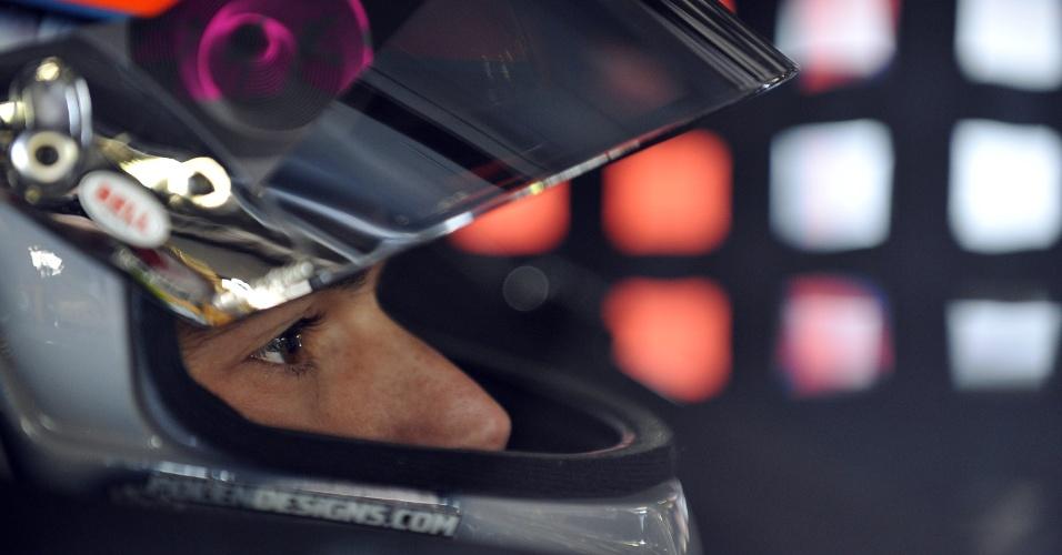 Nelsinho Piquet durante a etapa de Rockingham, em que foi pole na Nascar