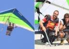 Ex-BBBs Rafa e Maurício pulam de asa delta na praia de São Conrado - Fábio Martins/AgNews
