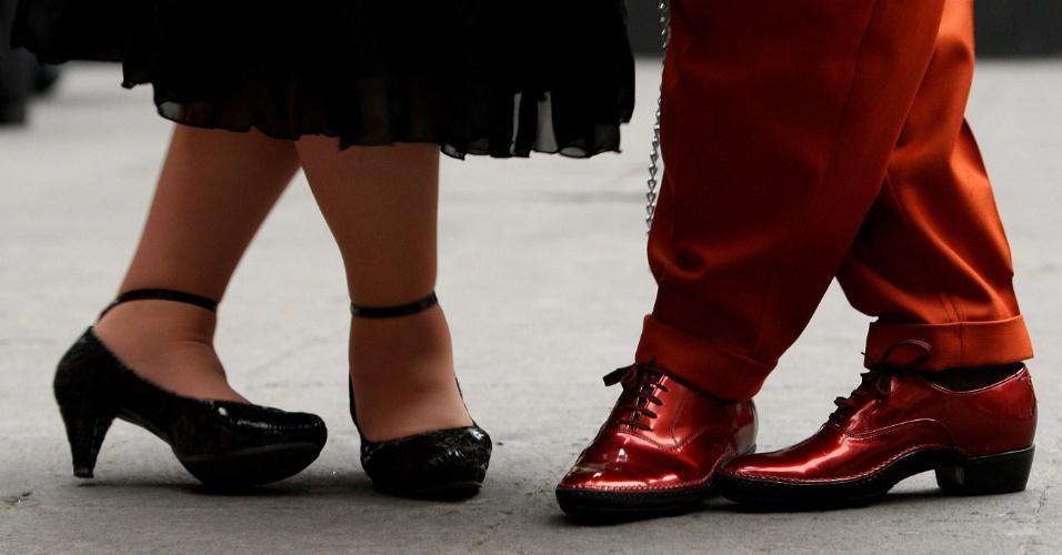 """Pessoas de todas as idades participam da 4ª edição do festival de """"Danzón"""", realizado no Museu da Cidade do México. O """"Danzón"""" é um ritmo proveniente de Cuba, mas muito conhecido no México"""
