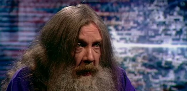 Alan Moore em entrevista para a BBC - Reprodução