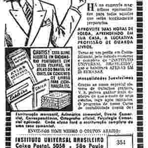 Anúncio do curso de Contabilidade do Instituto Universal Brasileiro, 1944 - Instituto Monitor