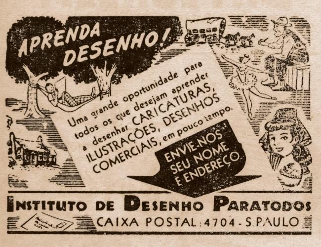 Anúncio do Instituto de Desenho para Todos, dos anos 1940