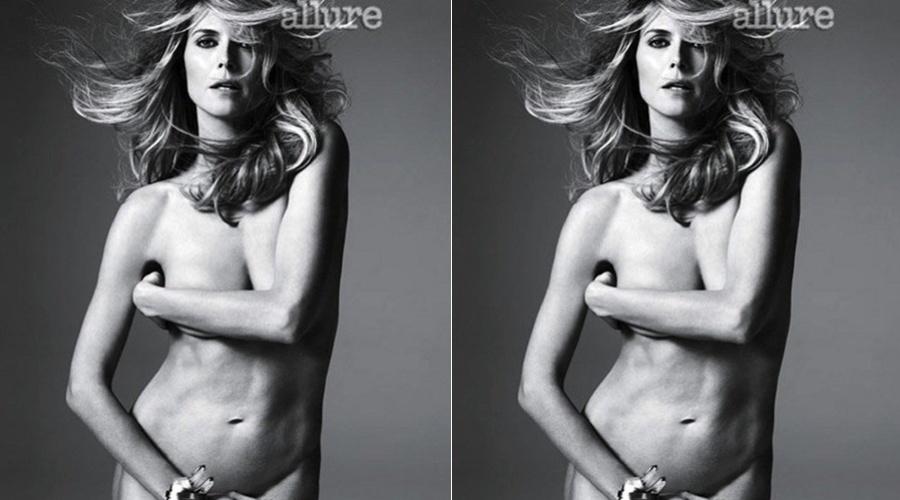Aos 38 anos, Heidi Klum posa nua para revista (16/4/2012)