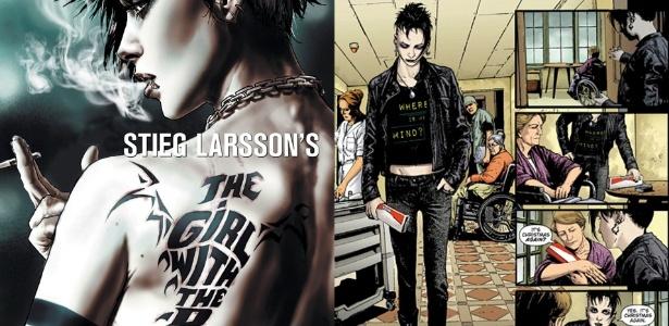 """Capa e página da graphic novel """"Os Homens que Não Amavam as Mulheres""""  - Reprodução/Vertigo"""