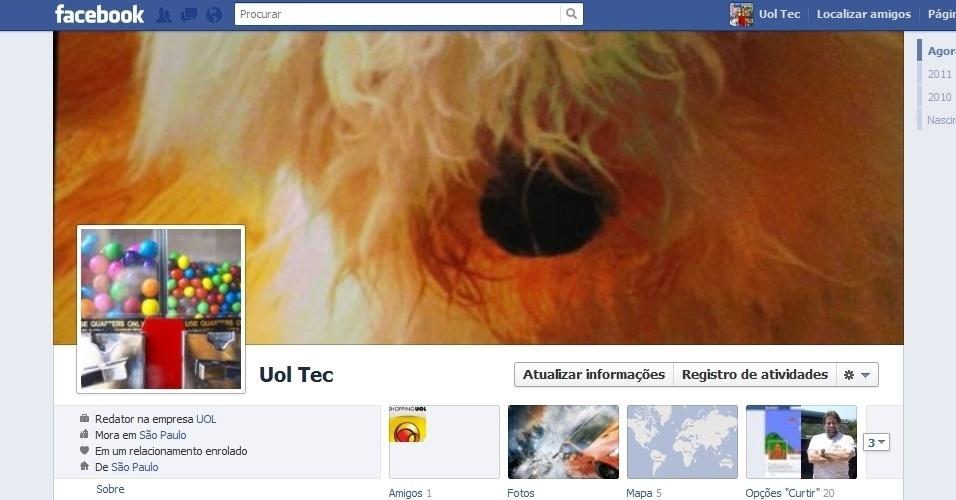 Capa para Facebook com nova Timeline - Perfil do UOL Tecnologia