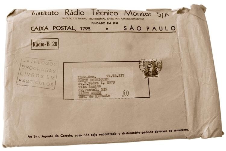 Curso de rádio por correspondência da década de 1950