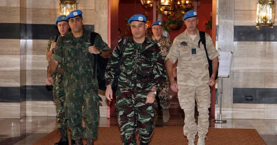 Equipe de monitores da ONU deixa hotel em Damasco, na Síria