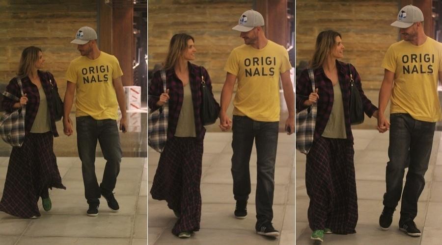 Fernanda Lima e Rodrigo Hilbert passeiam em shopping da zona oeste do Rio (16/4/2012)