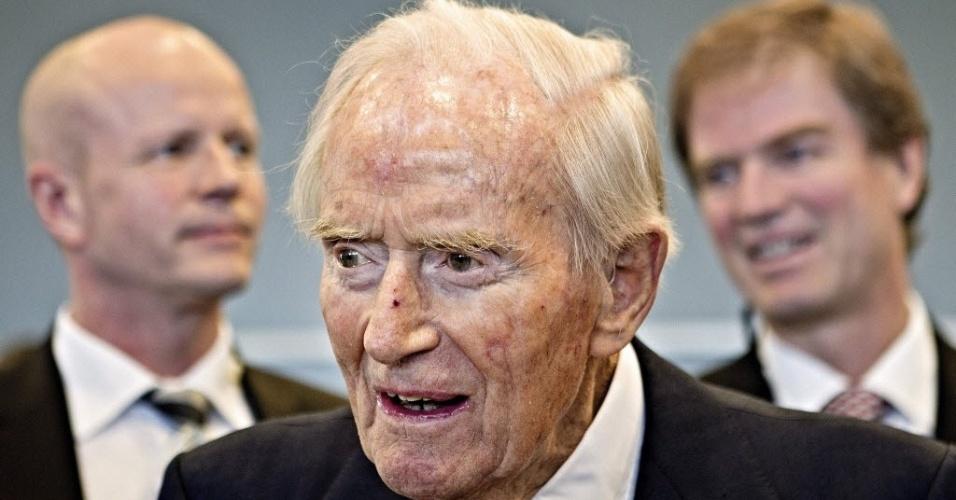 Foto de 27 de fevereiro deste ano mostra o milionário dinamarquês Maersk Mc Kinney Moller, morto nesta segunda-feira, aos 98 anos