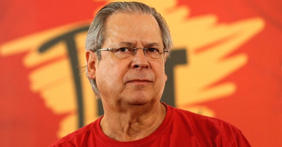 José Dirceu, ex-ministro da Casa Civil, um dos acusados de participar do Mensalão