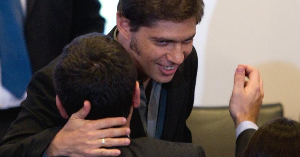 Vice-ministro da Economia da Argentina, Axel Kicillof, participa de cerimônia em que a presidente do país, Cristina Kirchner, anunciou a intenção de tornar de utilidade pública a petrolífera YPF