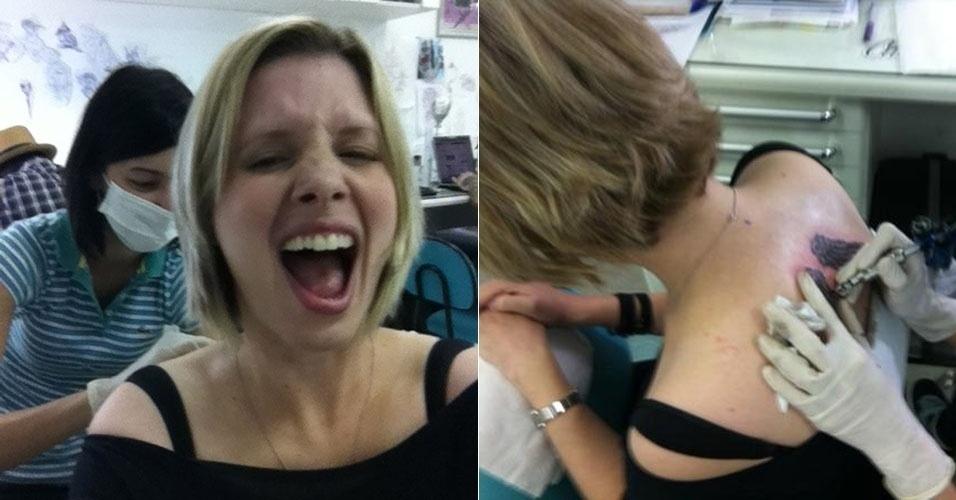 A atriz Daniele Valente faz a primeira tatuagem (17/4/12)