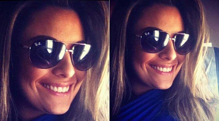 Após fazer cirurgia no nariz, a ex-BBB Monique Amin mostra foto do resultado por meio de sua página do Twitter (17/4/2012)
