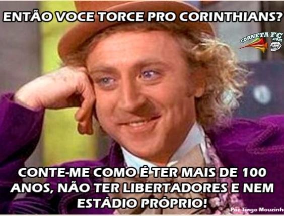 Corneta FC: Willy Wonka ironiza o Corinthians