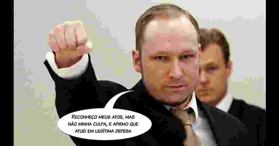 Frases ditas pelo atirador Anders Behring Breivik - Arte/UOL
