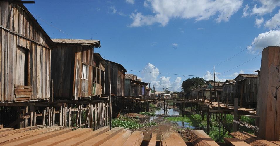 A falta de saneamento é um dos principais problemas de Altamira, no Pará