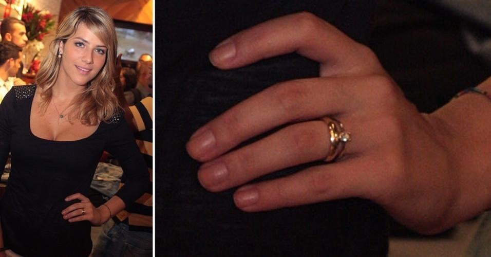 Para pedir a mão de Giovanna Ewbank, o ator Bruno Gagliasso deu um solitário para a atriz. O casamento dos pombinhos aconteceu em março de 2010