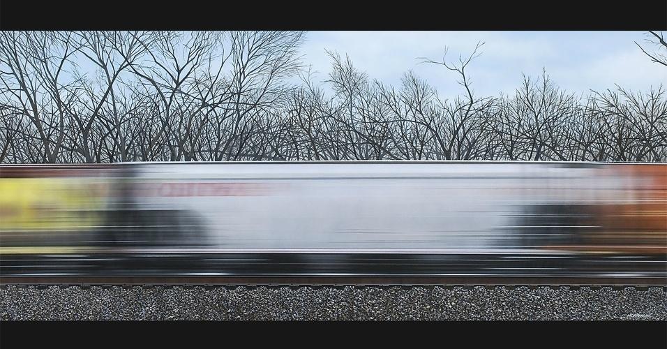 "Tela ""Pushin Through"", de Adam Normandim"