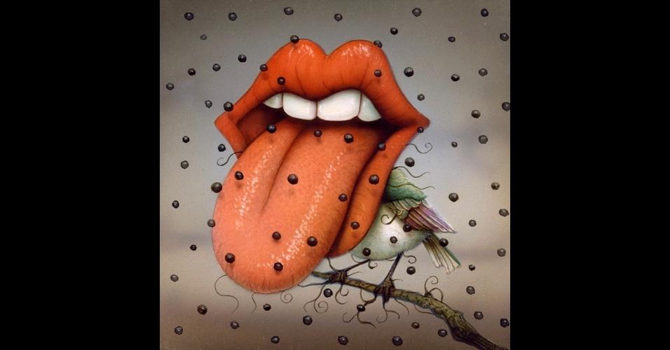 "Tela ""Tonguing"", de Naoto Hattori"