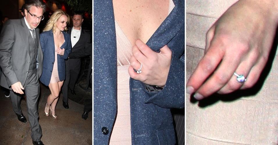 No final de 2011, foi a vez de Britney Spears ganhar um anel de noivado de Jason Trawick. A peça foi desenhada Neil Lane e, além do diamante central, ainda leva várias pedras menores na lateral