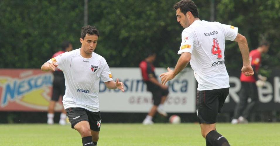 Jadson e Rhodolfo treinam no São Paulo