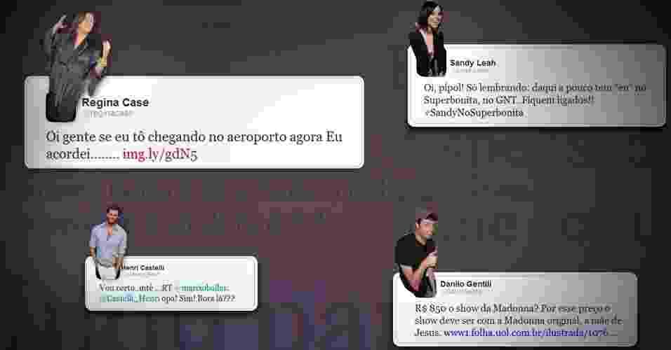Pesquisa mostra erros e acertos no Twitter; veja como famosos se saem no microblog  - Arte/UOL