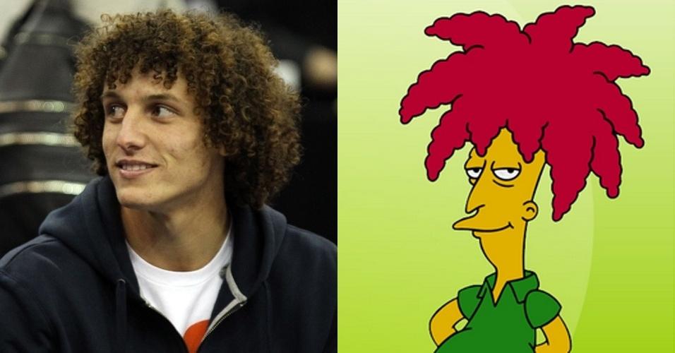 """Zagueiro David Luiz é uma projeção do personagem Sideshow Bob, de """"Os Simpsons"""""""