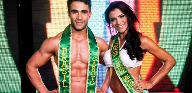 Júnior Moreno e Marissol Dias foram eleitos Garoto e Garota Fitness Brasil 2012. Eles ganharam de mais de 80 candidatos selecionados pelo concurso em 2 milhões de inscrições - Leandro Moraes/UOL