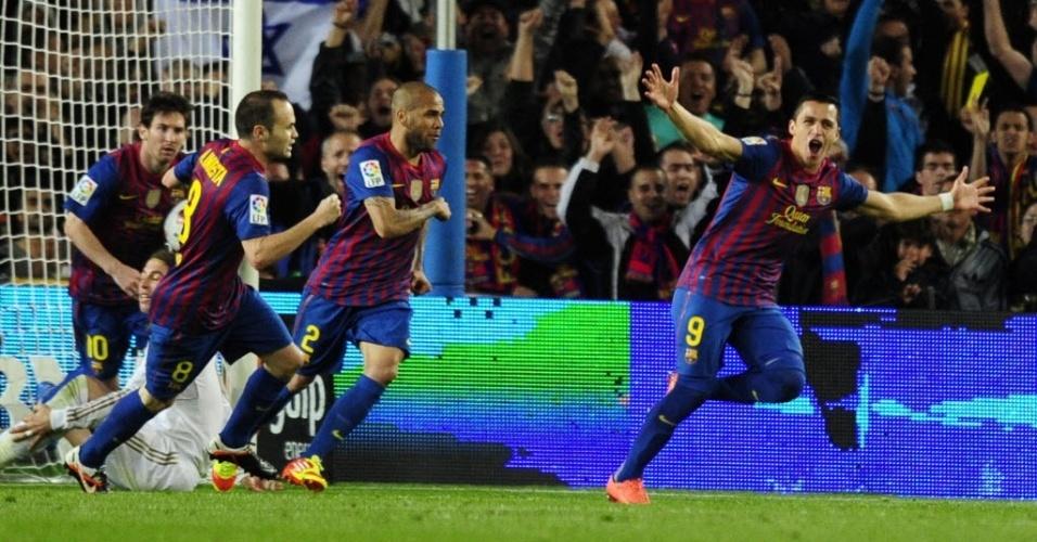 O chileno Alexis Sánchez entrou no segundo tempo e empatou o jogo para o Barcelona