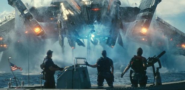 "Cena do filme ""Battleship"", da Universal Pictures"