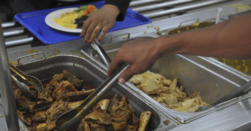 Restaurante do Sitio Canais e Diques, onde 1.400 trabalhadores da usina de Belo Monte se alimentam todos os dias