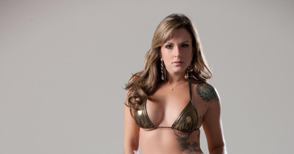 A modelo Munissa Cadore está entre as candidatas ao concurso que escolherá a Gata da Fórmula Indy no Brasil