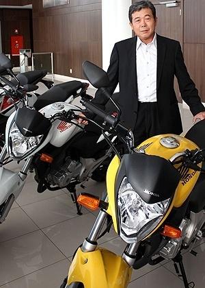 Issao Mizoguchi, presidente da Honda: fabricante quer ao menos manter fatia de mercado de 80% - Arthur Caldeira/Infomoto
