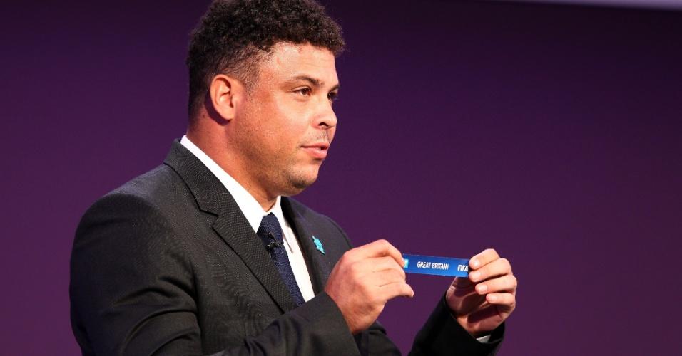 Após o sorteio das chaves do futebol para os Jogos Olímpicos de Londres, Ronaldo afirmou que está confiante na geração atual do futebol brasileiro e na conquista da inédita medalha de ouro