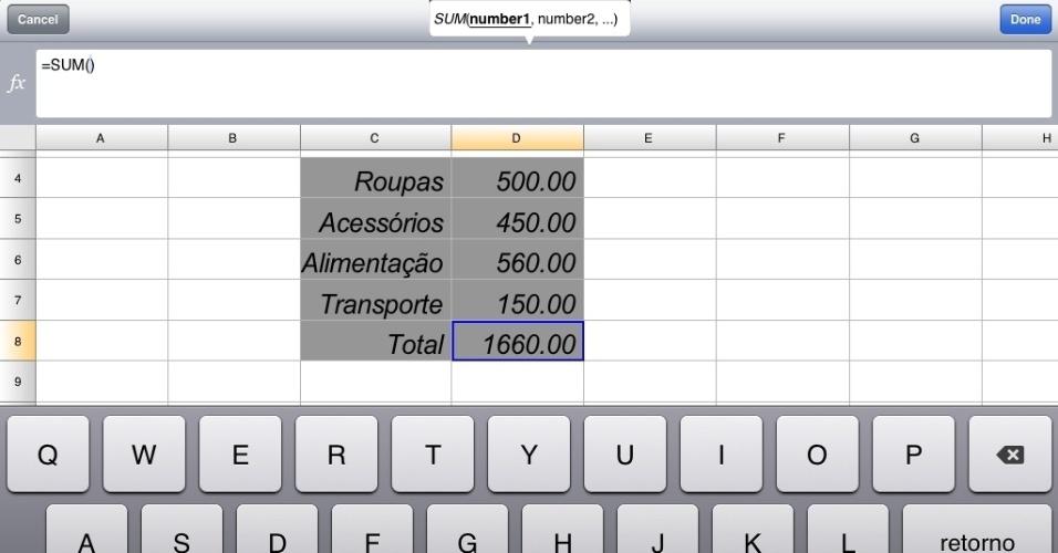 Programa Documents to Go para iPad