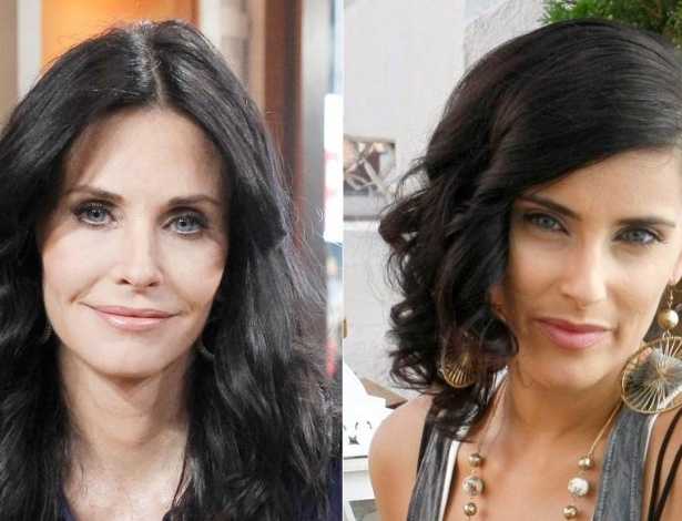 Courteney Cox (esq.) e Nelly Furtado (dir.)