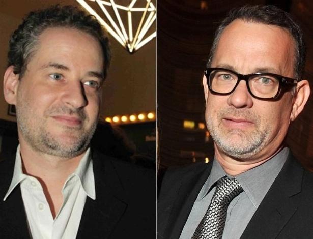 Dan Stulbach (esq.) e Tom Hanks (dir.)
