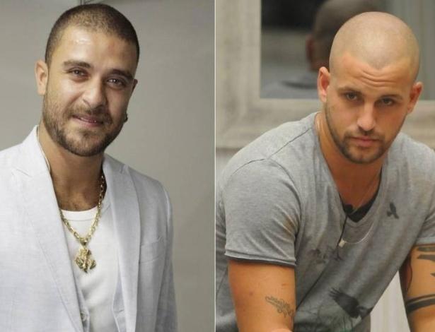 Diogo Nogueira (esq.) e o ex-BBB Diogo (dir.)