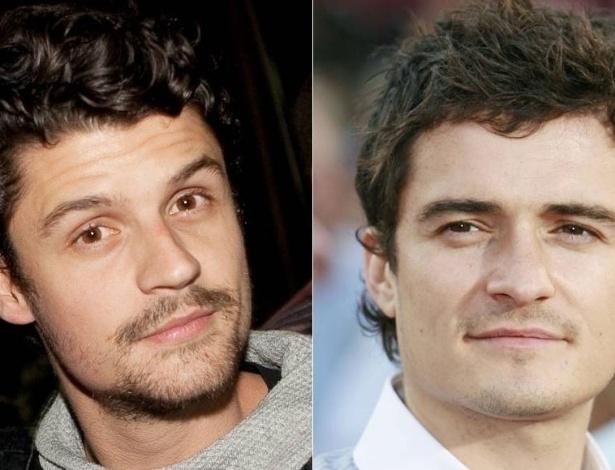 Felipe Solari (esq.) e Orlando Bloom (dir.)