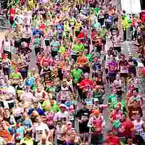 Maratona de Londres foi realizada no último domingo - PA via BBC