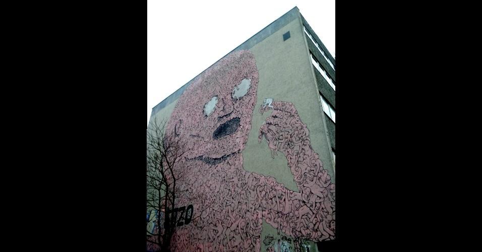 Trabalho do francês Blu no bairro de Kreuzberg