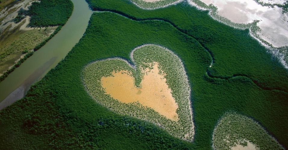 Coração de Voh em 1990, Nova Caledônia, França