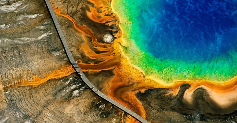 Grande Fonte Hidrotermal Prismática, parque nacional de Yellowstone, Wyoming, EUA