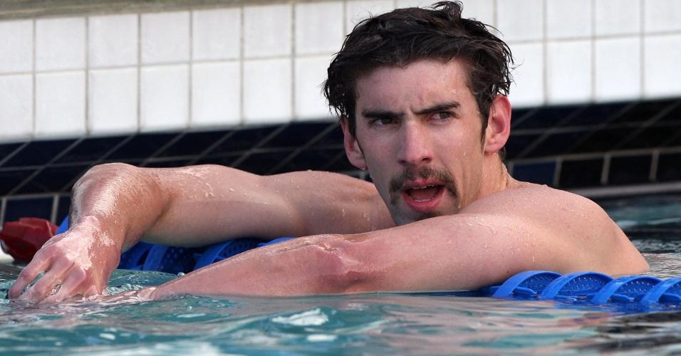 Michael Phelps, nadador norte-americano e recordista de medalhas de ouro em uma só edição dos Jogos Olímpicos